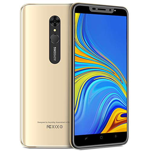 Moviles Libres 4g, 5.5'' 8MP+5MP Fingerprint Unlock 1GB+16GB/Extendida 128GB Telefono movil 4800mAh, Dual SIM+1 SD Móviles y Smartphone Libres Android 9.0