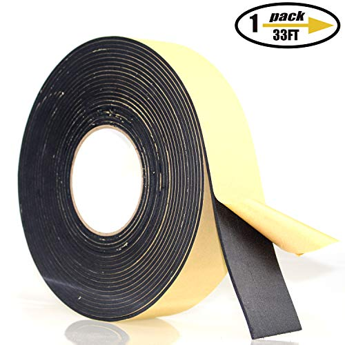 Foam Insulation Tape Adhesive, Seal, Doors, Weatherstrip, Waterproof, Plumbing, HVAC, Windows,...