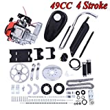 Fiudx 4 Stroke Bicycle Engine Kit, Full 49CC 4-Stroke Gas Petrol Motorized Bike Bicycle Engine Motor Kit