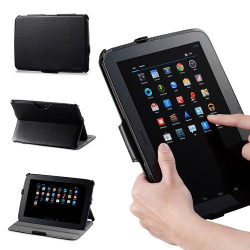Acase Google Nexus 10 Case - Leather Case Folio with multi view Stand & Wake/Sleep Function (BLACK)