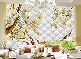 Papel Pintado Pared Papel Pintado 3D Pez Rombo En Relieve Rombo Estilo Chino Mural Dormitorio Baño Decoración Para Hogar'430cmx300cm