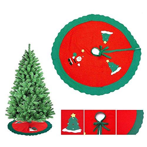 CrazySell Titolare 6 Pz Babbo Natale felice da tavola Argenteria decorazioni di Natale del vestito Dinner Party Tasche Decor set di coltelli e Borse Forcella (1 Pcs Tree cover)
