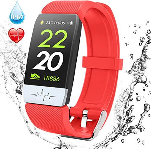 Fitness Trackers Stappenteller Horloge met hartslag Bloeddrukmeter Slaapmonitor IP67 Activity Tracker voor vrouwen Mannen met Android IOS