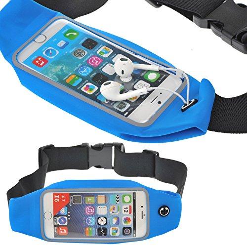 Mogic sacs bananes de sport Sacs bananes de sport pour iphone 6s / 6 / 6 plus,Samsung Galaxy Note 5 4 3 S6 edge+ et Smartphones android.transparent guichet à écran tactile,Résistant à l'eau, à la sueur, la connexion d'écouteurs parfaite. (5.5, Noir)