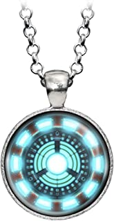 Wearable Treasures Arc Reactor Necklace, Iron Man Ironman Pendant, The Avengers Jewelry, Shield Pendant, Superhero Earrings Gifts Gift, Geek Geeky Present Presents
