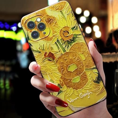 LKJHG La Custodia per Cellulare con Pittura a Olio Van Gogh è Adatta per iPhone 12 Mini 11Pro Max XS 8 7 6 6S Plus X XR SE 2020 Custodia,Custodia Protettiva in Silicone Tup Ultrasottile Antiurto