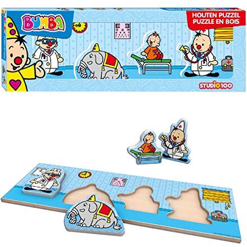 Bumba Mini houten puzzel met dikke stukken - Dokter