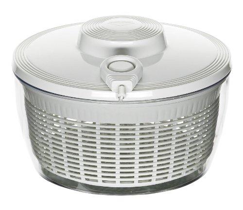 Küchenprofi Centrifuga per Insalata 24 cm, Coperchio con Comando a Cavo Flessibile