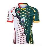 Rugby Maillot Rugby Jersey Afrique du Sud Angleterre Nouvelle-Zélande Coupe du Monde de Rugby 2019 Survêtements Football Soccer T-Shirt d'Entraînement Respirant Textile S-3XL,green+white,S/170-175CM