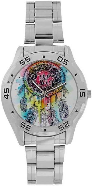 5% OFF Men's Stainless Steel Analog Watch Overseas parallel import regular item Dream Catcher Pattern Art