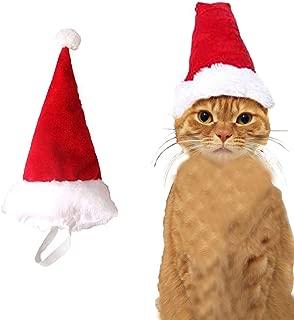 Wiz BBQT Adjustable 3D Christmas Santa Hat for Dogs Cats