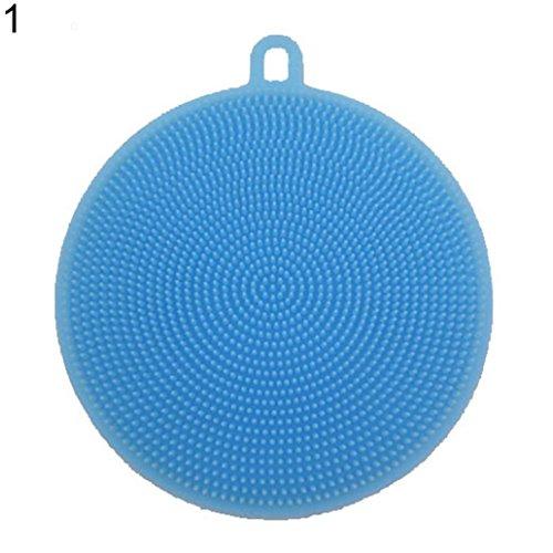KaariFirefly doppelseitige Silikonbürste zum Abwaschen, für die Küche, zum Reinigen blau