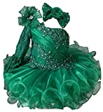 Jenniferwu G086 Infant Toddler Baby Newborn Little Girl's Pageant Party Birthday Dress Emerald Size 12-18M