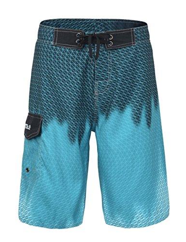 Nonwe Men's Beachwear Cool Quick Dry Swim Shorts with Mesh Lining Anilox Blue 40