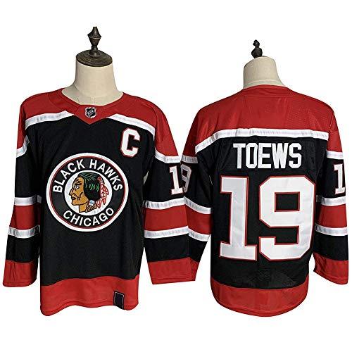 JesUsAvila Jon.athan T-oews #19 Chicago Blackhawks Eishockey Trikot Sweatshirts Atmungsaktiv T-Shirt Bekleidung Top/D/XXXL