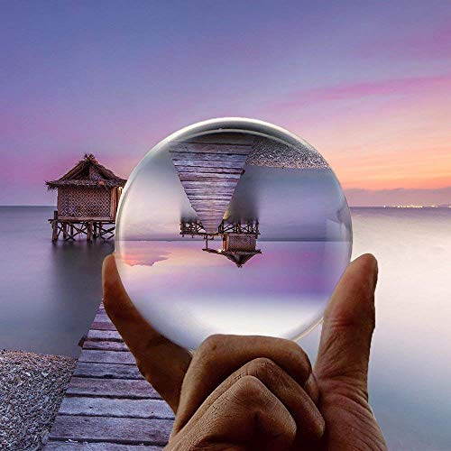 Hehilark Schneekugeln Kristallkugel Glaskugel Fotografenqualität 60mm Glaskugeln Fotografie gut zum fotografieren für deko/Fotografie/murmeln/Hause (60mm)