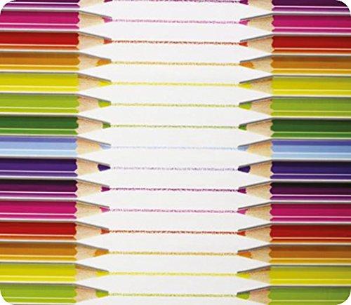 Springbord PVC Tafel en Vloerbedekking - Potloden Ontwerp (Circular) - 1,3 m dia - Geschikt voor Kunst, Ambacht En Rommelig Spelen