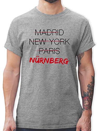 Städte & Länder - Weltstadt Nürnberg - S - Grau meliert - Tshirt Herren nürnberg - L190 - Tshirt Herren und Männer T-Shirts