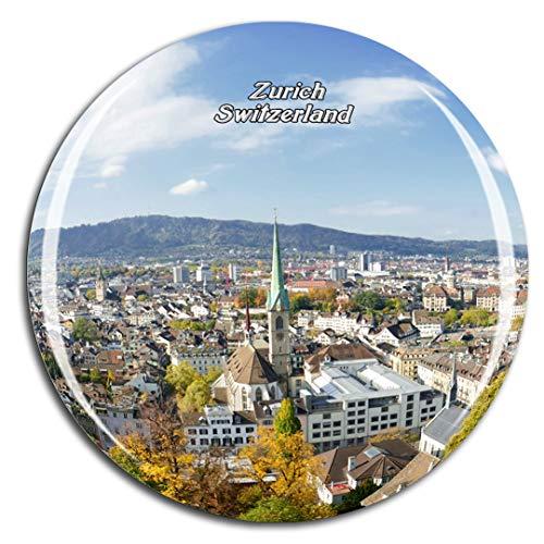Weekino Svizzera Città Vecchia di Zurigo Calamità da frigo 3D Cristallo Bicchiere Tourist City Viaggio Souvenir Collezione Regalo Forte Frigorifero Sticker