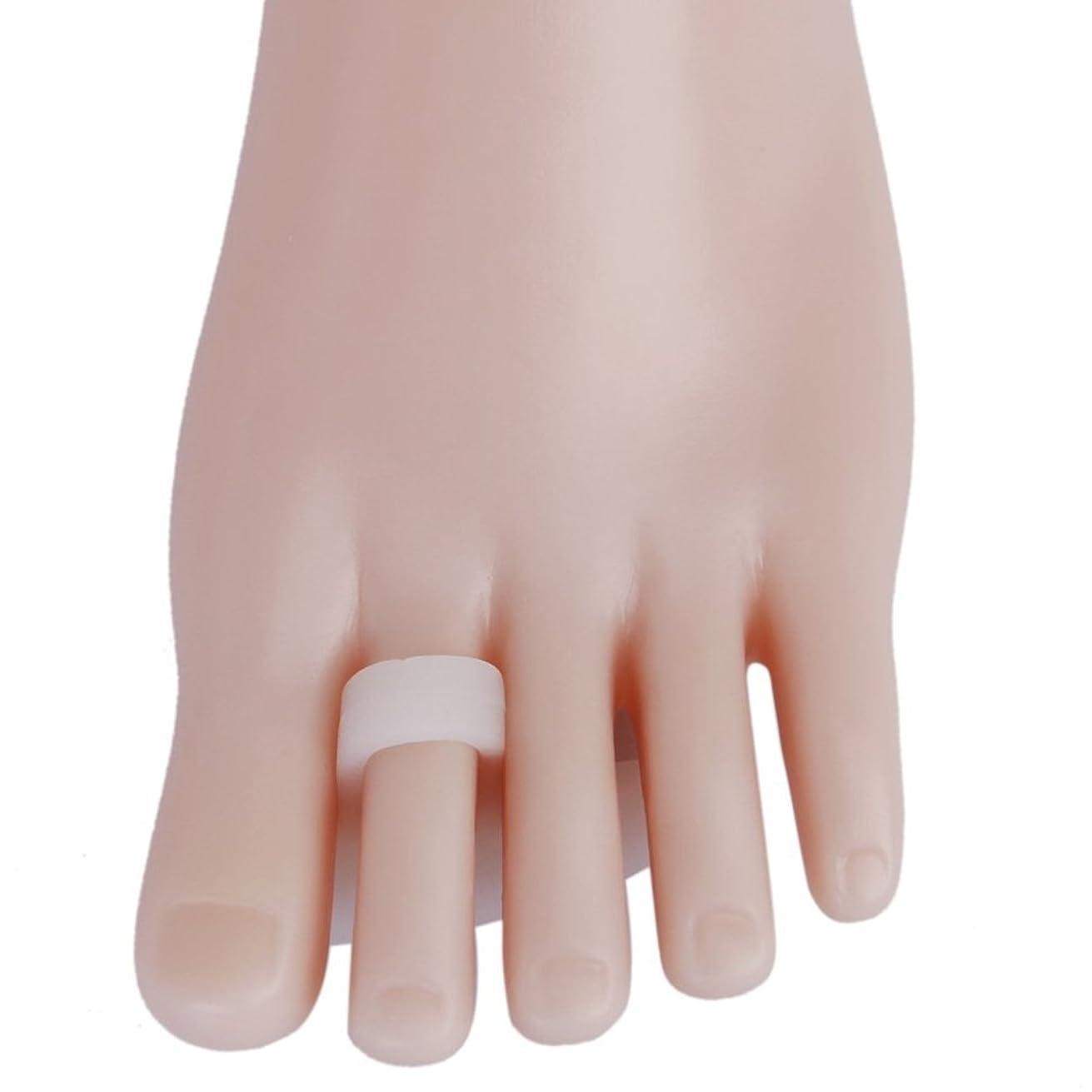 ROSENICE ソフトゲルシリコーン製 ブレース 足指セパレーター 痛み軽減 つま先矯正 1ペア