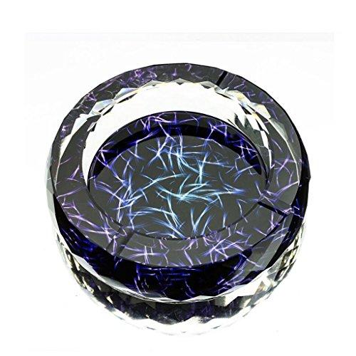 cendrier Xuan - worth having Modèle de fleur 3D Style d'impression couleur Cirage à cristal rond en verre Accueil Décoration de salon (taille : 13 cm)