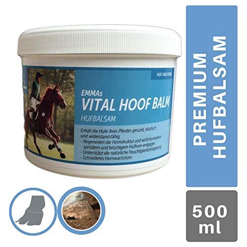 EMMA® Hufbalsam für Pferde I Hufpflege für gesunde Hufe I Huffett Pferde trockene Hufe I Hufsalbe I Huffestiger gegen trockene rissige Hufe I für gesundes Hufwachstum für Pferde 500 ML