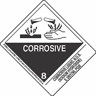 GC Labels-L303P3171, Corrosive Liquid, N.O.S. (Sodium Hydroxide) 8, UN1760, PGIII, Roll of 500 Labels