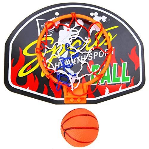 Mini Baloncesto Interior Cuarto de Baloncesto Cuarto de Aro de Aro Conjunto con Bola de Cesta para Niños Niño Juego Portátil Baloncesto Tablero