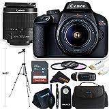 Canon EOS Rebel T100 DSLR Camera w/Canon EF-S 18-55mm F/3.5-5.6 + Sunshine Deluxe Bundle