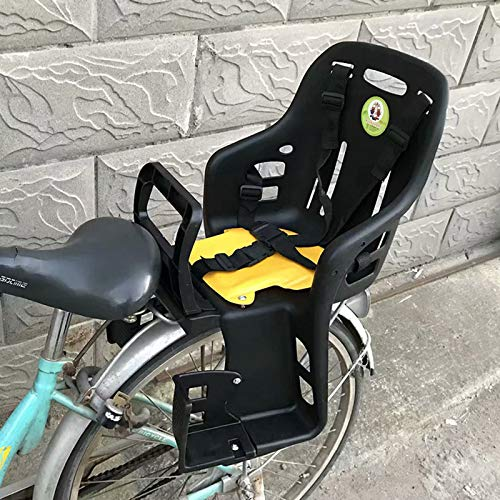 ZCVB Child Bike Seat Rear Frame Mounted for 2-5 Years Kids Toddler Cruiser MTB Bicycle Safety Seats with Armrests Pedals Seat Belt,Black