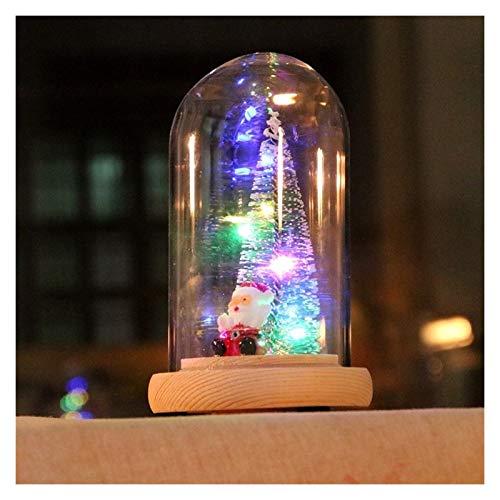 Caja de música Árbol de Navidad Vidrio Luminoso Cedro Caja de música...
