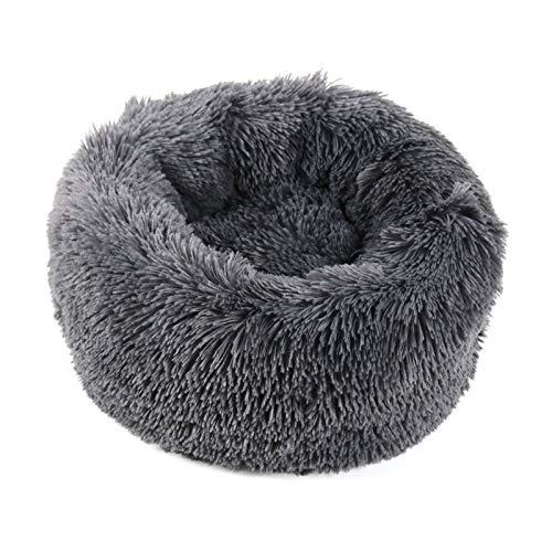 LJYTWPZYS Cama para Mascotas,Ultra Suave, cómoda,Cuatro Estaciones,sofá para Mascotas Resistente,Mascota Waterloo -Varios tamaños-Dark Gray||60cm
