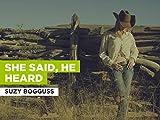 She Said, He Heard im Stil von 'Suzy Bogguss'