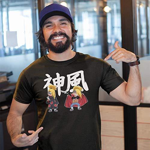 T-Shirt Noir Naruto parodique Deidara Ninja de l'Akatsuki : Kamikaze No Jutsu !! (Parodie Naruto)