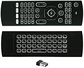 ILS - MX3 Wireless QWERTY White Backlit 2.4GHz Keyboard Air Mouse for TV Box Mini PC