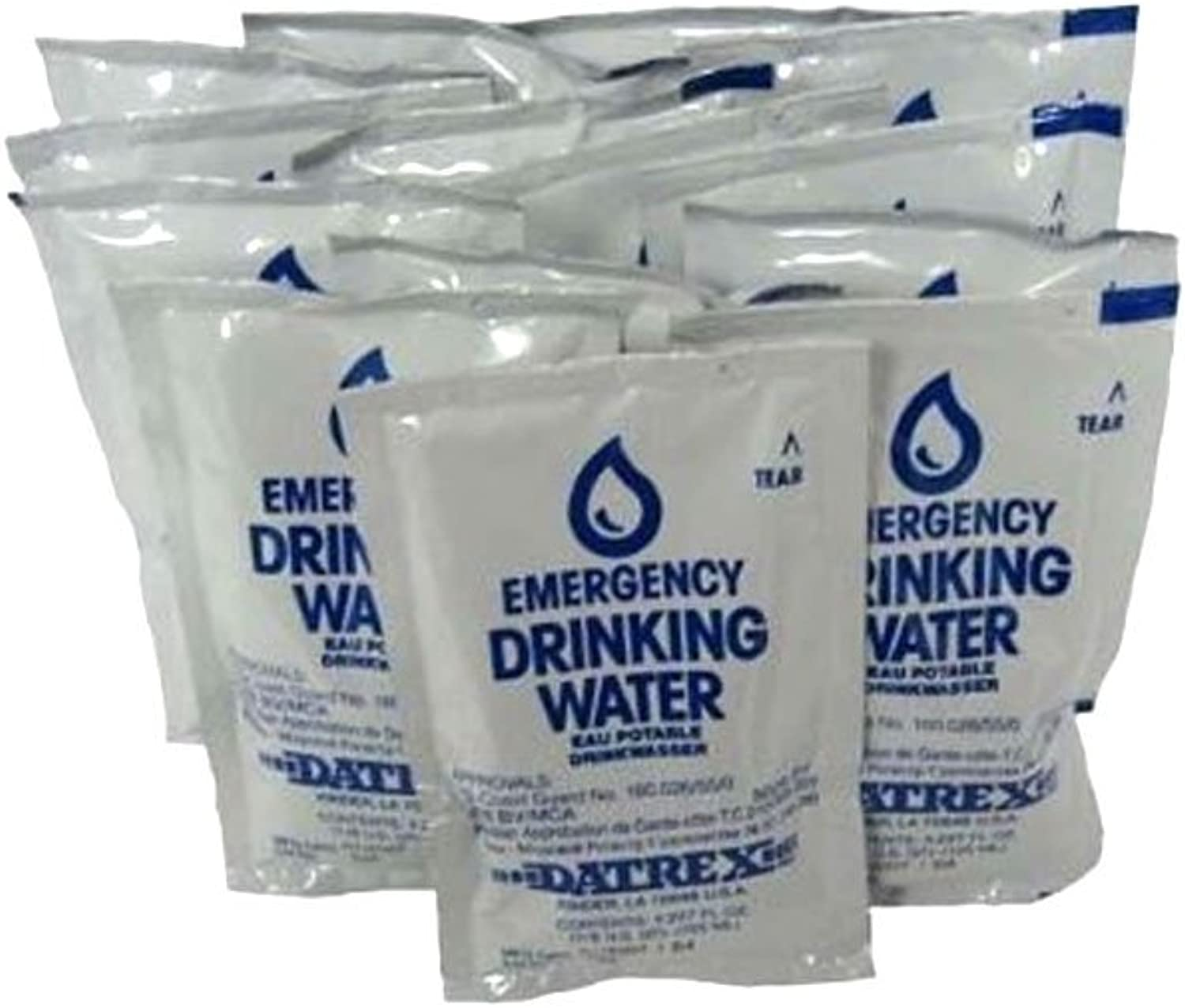 Datrex Emergency Survival Water Pouch (Pack of 12), 1.5Liter