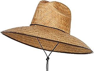 Men's Crushed Safari Straw Sun Hat,Life Guard Hat,Gardening,Out Door