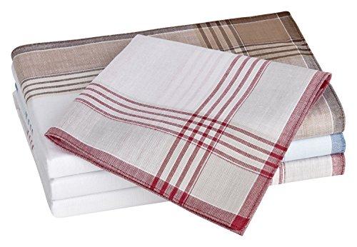 Tobeni 10 Stück Herren Stoff Taschentücher Herrentaschentücher Stofftaschentücher 100% gekämmte Baumwolle Farbe Design 11 Grösse 40 cm x 40 cm