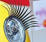 2AINTIMO Ciglia Auto FARI Macchina UNIVERSALI per FARI Auto ADESIVE 1 Coppia di CIGLIE -Ciglia per Auto finte ciglie fari fanali luci Idea Regalo Estate Accessori Auto (1 Coppia)