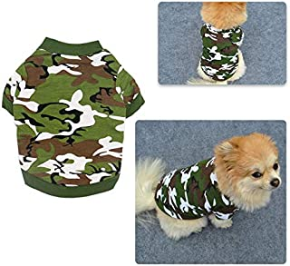 LCPET Puppy Clothes Dog Puppy Shirt Clothing Dog Camouflage Summer Clothes