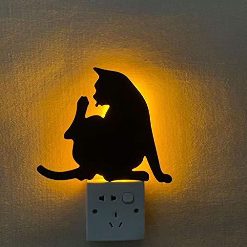 Lámpara de Pared Black Cat Silhouette Iluminación Cálida Lámpara de Proyección LED para la Decoración Del Dormitorio de la Cocina Del Pasillo de la Sala de Estar Del Hogar