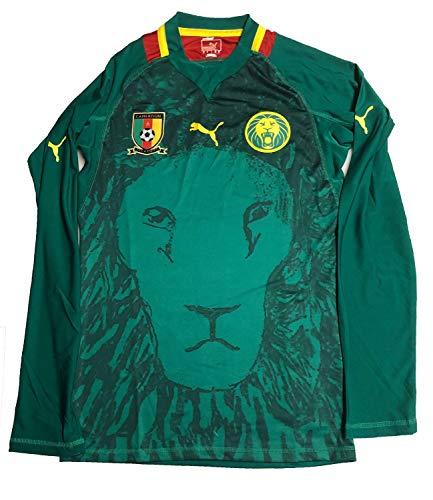 PUMA Kamerun Trikot Jersey Gr L Cameroon Longsleeve National Team Grün 740190 04