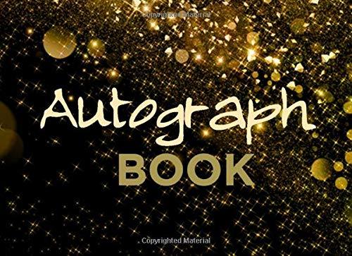 Autograph Book: Classic Memory Book, Signature Celebrity Memorabilia Album Gift, Blank Unlined Keepsake Scrapbook Favorite Baseball, Basketball, Football, ... Cartoon Characters, 8.25