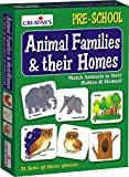 Creatives Animal Families And Their Homes Card Game (Multi-Color, 63 Pieces)