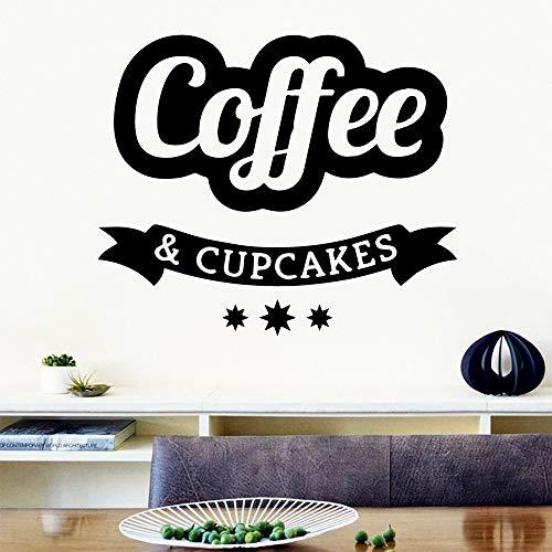 zqyjhkou Nette Kaffee Wandaufkleber Moderne Mode Wandaufkleber Für Kinderzimmer Art Decor Wall43x51cm