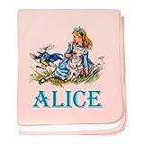 CafePress Alice in Wonderland Blue Baby Blanket, Super Soft Newborn Swaddle
