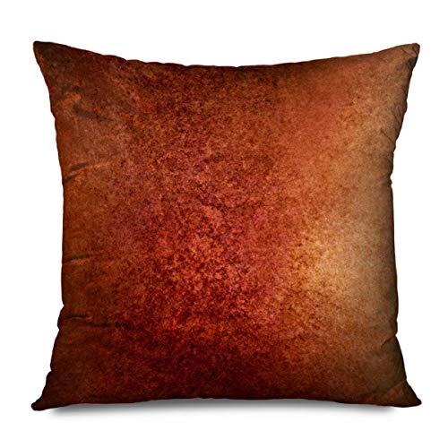 Suo Long Funda de cojín Resumen de Navidad Viejo Marrón Pared Rojo Textura Color Vintage Cobre Rústico Envejecido Antiguo Tablero Negro Funda de Almohada