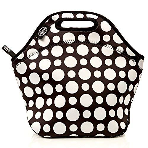 LARGE Neoprene Lunch Bag Insulated Tote 5 Design Options Heavy Duty Zipper NEW