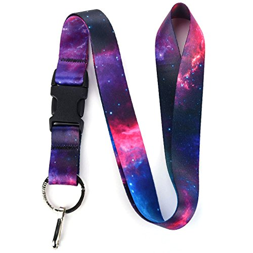 Buttonsmith Nebula Premium Lanyard - with Buckle and Flat Ring - Made in The USA