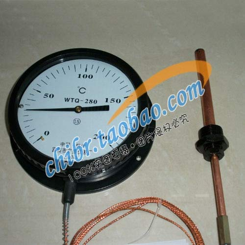 Tool Parts WTQ-280 pressure type thermometer 10 meters of 0-200 boiler thermometer thermometer Hongsheng instrument